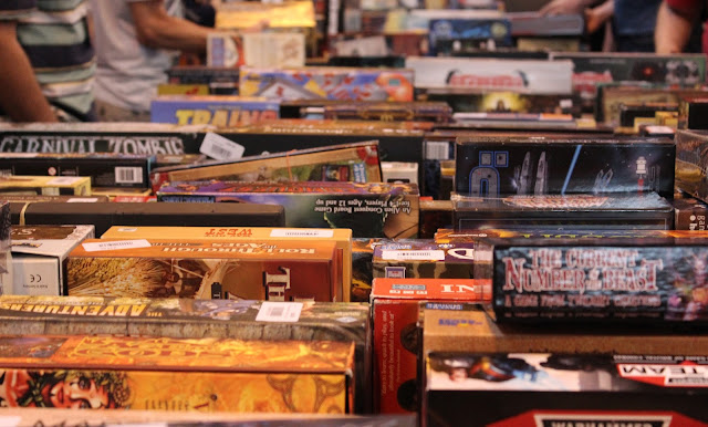 Bring and buy sale at the UK Games Expo