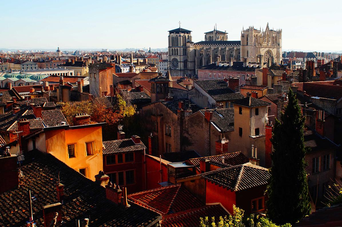 Vieux Lyon vue panoramique cathédrale Visites guidées
