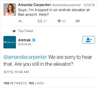 tweet stuck in elevator