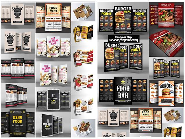 20 تصميم منيو طعام psd حصريا على فونكسات للتصميم والجرافيك