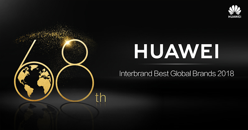 Huawei is now 68th at the Interbrand Best Global Brands list