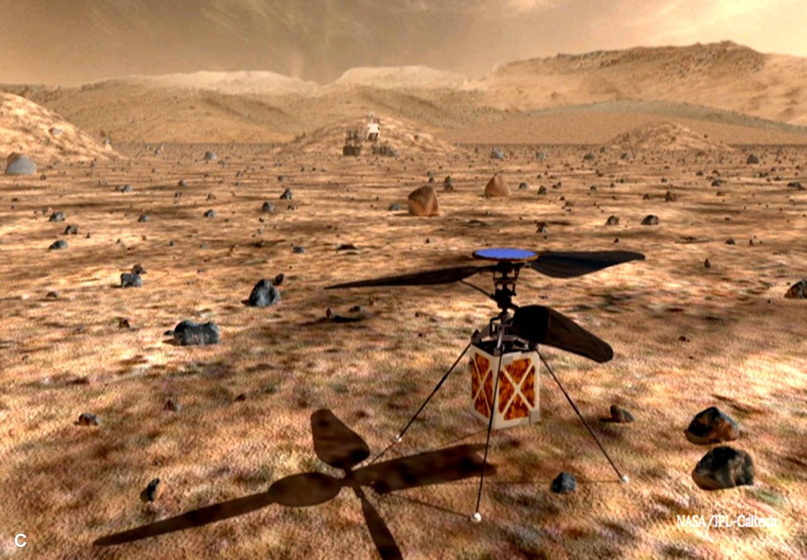 مستكشف المريخ القادم من ناسا ربما يحظى بمُرافِق جوي !