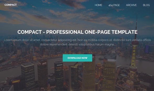 Compact - One Blogger Template Download
