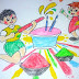Holi Drawing for kids | Holi Drawing Images Pictures
