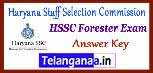 HSSC Haryana Staff Selection Commission Forester Answer Key 2017 Expected Cutoff