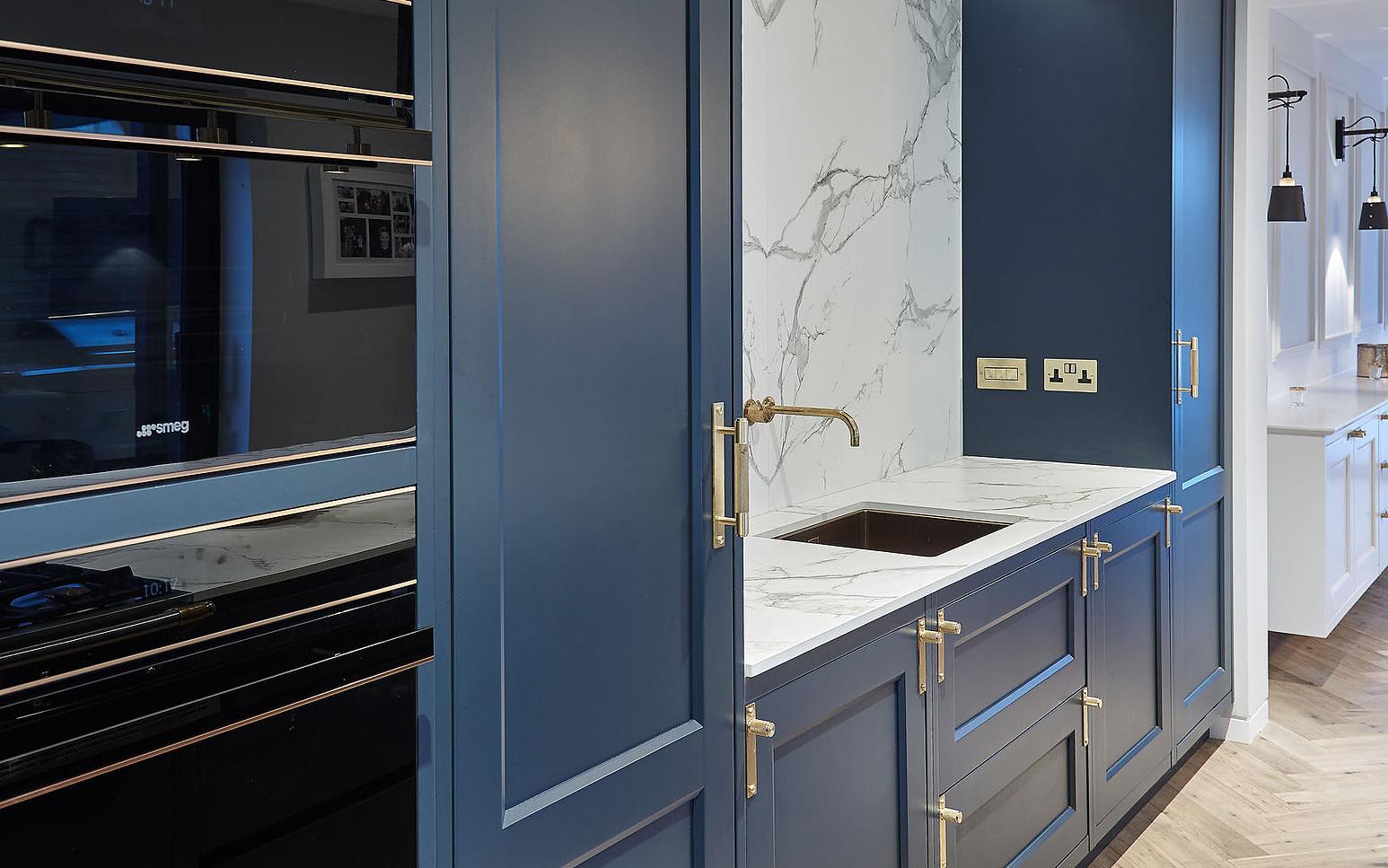 Navy blue kitchen detail