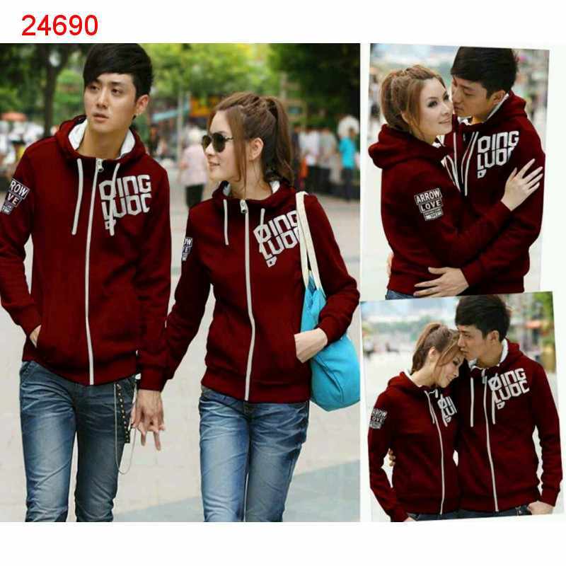 Jual Jacket Couple Jaket Qing Maroon Cloud - 24690