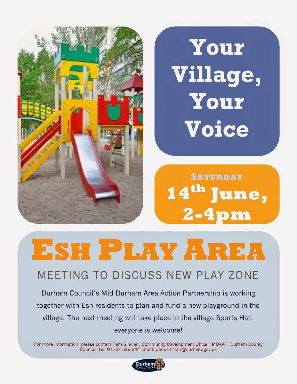 Esh Village, County Durham: Esh Play Area: Project Meeting on