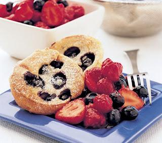 Blueberry Popovers Recipe