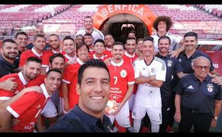 Futsal Benfica foto no Estádio da Luz