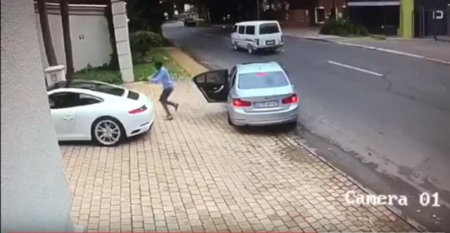 Evita que le roben su Porsche con esta increíble maniobra