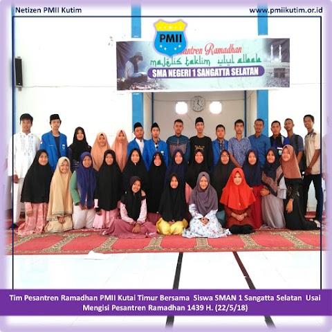 Semarak Ramadhan 1439 H, PMII Isi Pesantren Ramadhan Sekolah Di Kutai Timur