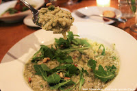 Risotto, Green Beans, Basil Pesto, and Pine Nuts at Le Garage