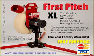 XL Our Top Of The Line Single Wheel Baseball Softball Combo Pitching Machine