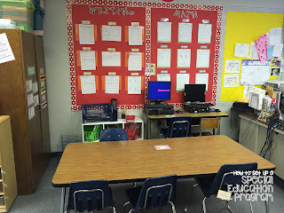 Special Education Classroom Daily Schedule: Work Center Rotations