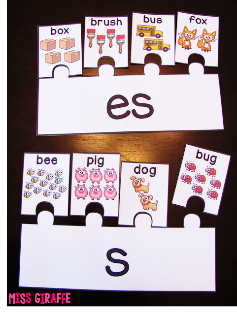 Love these plurals puzzles and other fun plurals activities