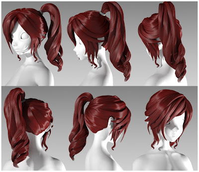 D4M Charity Hair LoRes for Genesis 3 Female