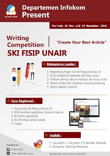 Informasi Lomba Menulis/Writing Competition SKI FISIP UNAIR November 2016 Deadline Desember Dengan Hadiah Menarik