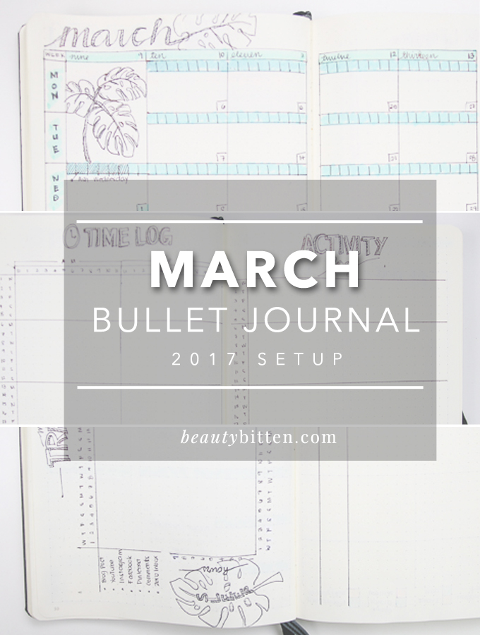 March 2017 Bullet Journal Setup, March Plan with Me