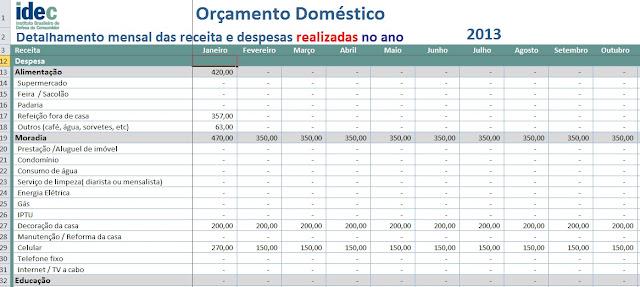 Planejamento Financeiro Pessoal - Despesas Sob Controle
