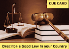 Describe a Good Law in your Country Recent IELTS cue card