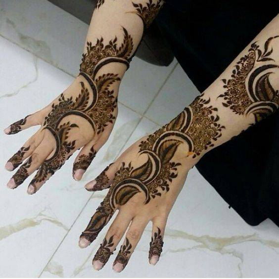 easy mehndi designs for girls