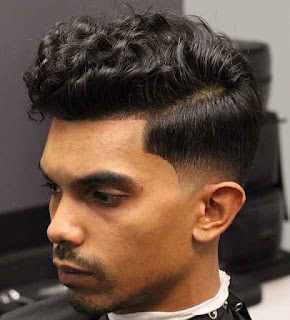 Curly Top Low Fade Haircut