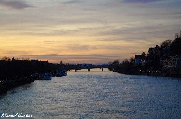 Heidelberg, Tramonto sul fiume Necke