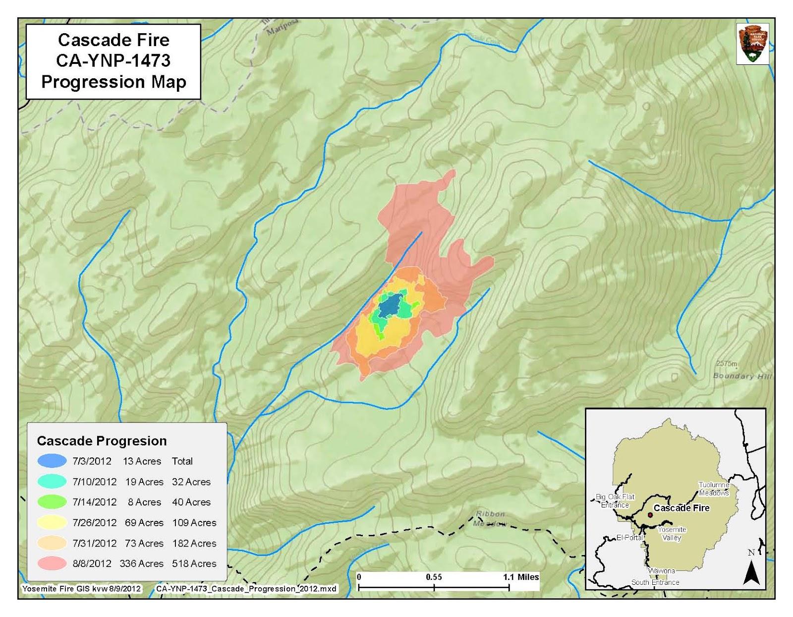 CFN   CALIFORNIA FIRE NEWS   CAL FIRE NEWS : CA YNP Cascade