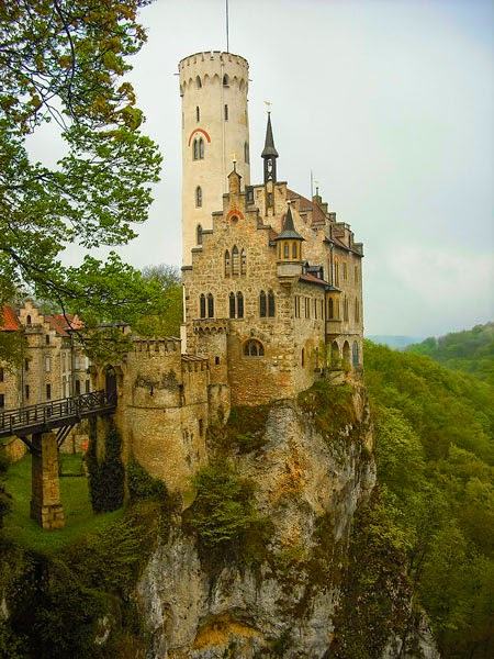 Lichtenstein castle in Baden-Württemberg, Germany
