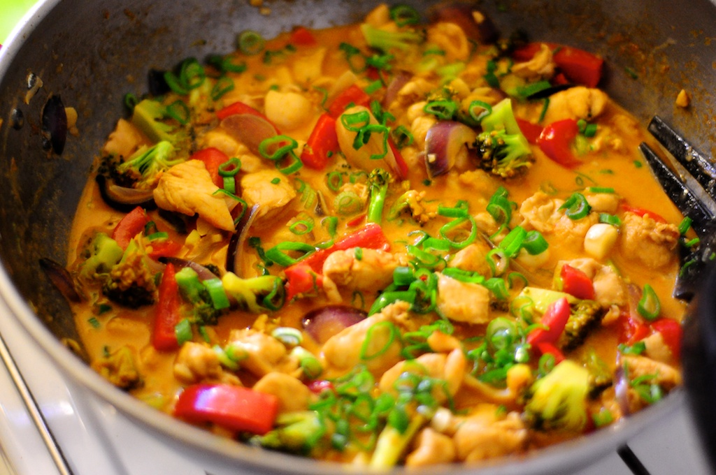 rød karry kylling thai opskrift