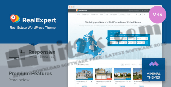 Real Expert v1.7.3-responsive real estate WP Theme