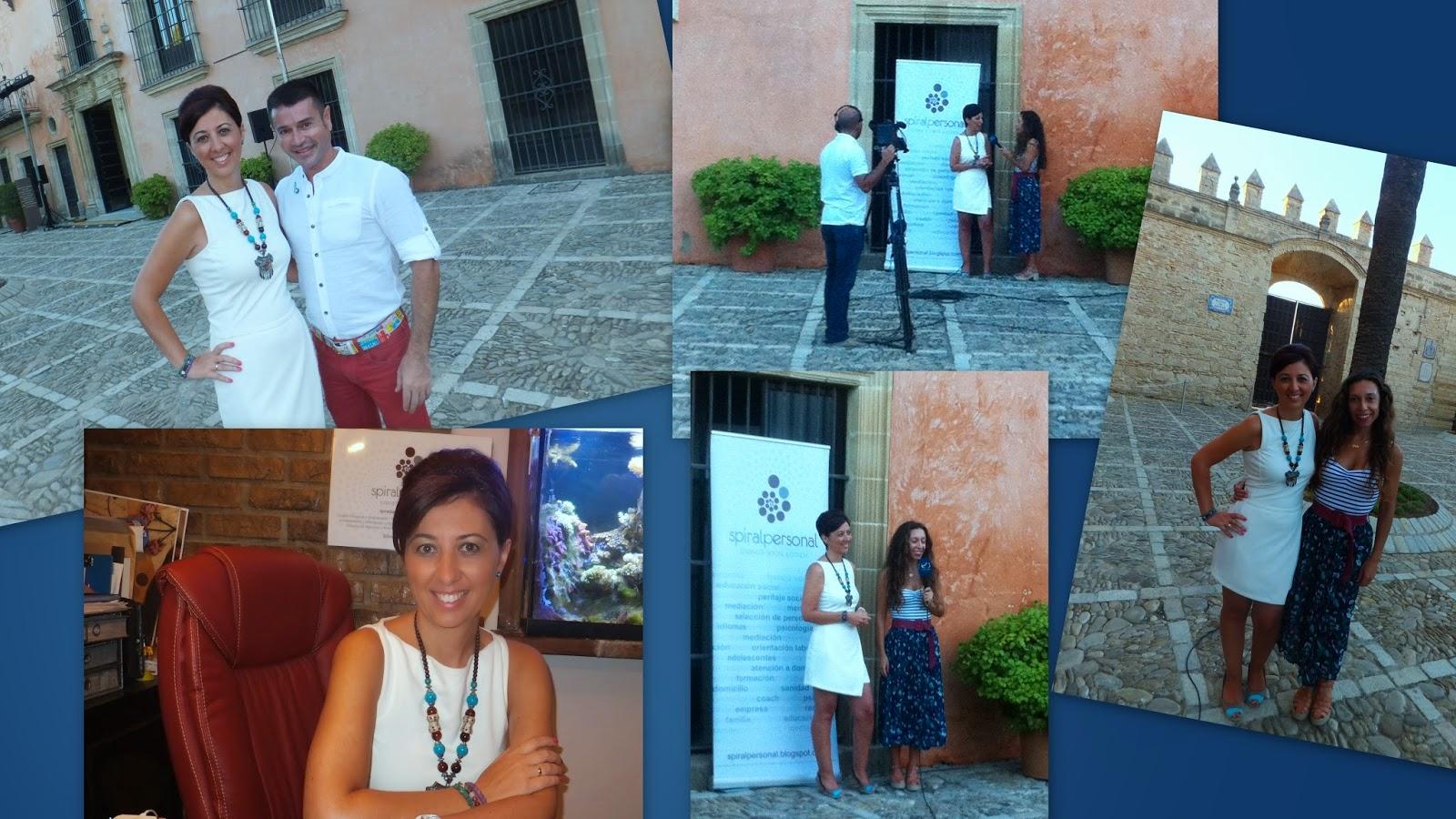 Hoy en Onda Jerez T.V , nuestra Gerente Silvia Monge, presentando todos los servicios de Spiral Personal, Gabinete Social & Coach.