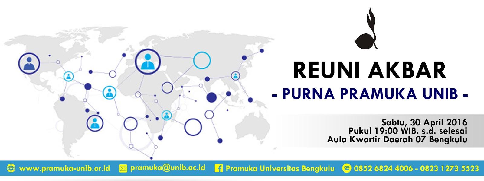 Undangan Reuni Akbar Purna Pramuka Universitas Bengkulu Pramuka