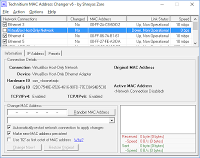 TMAC, Technitium MAC Address Changer 6.07, tmac terbaru, software ganti mac address, aplikasi mac address, cara ganti mac address