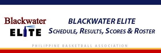 PBA: Blackwater Elite Schedule, Results, Scores, Roster