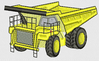 camion minero en formato emb
