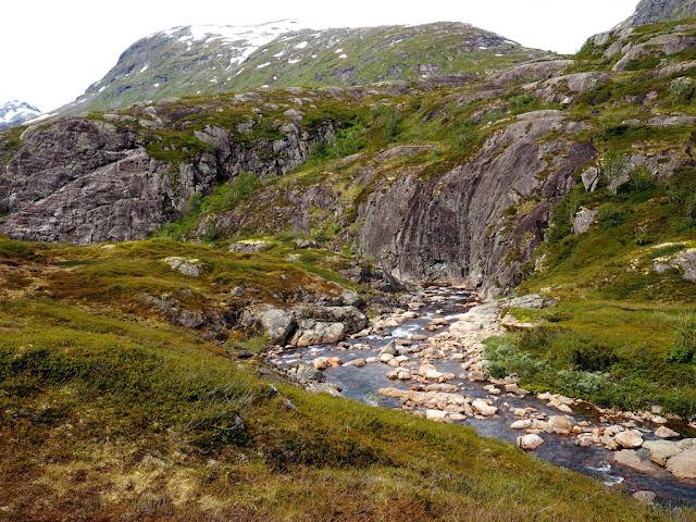 údolí Storutladalen, Norsko, Jotunheimen, příroda, řeka, nádhera