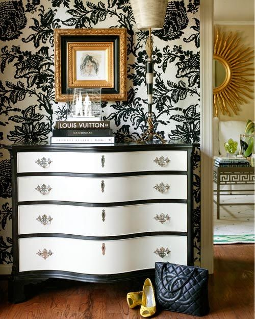 Gold White Interior Design: Inspiracje W Moim Mieszkaniu: Tapeta ścienna W Kwiaty