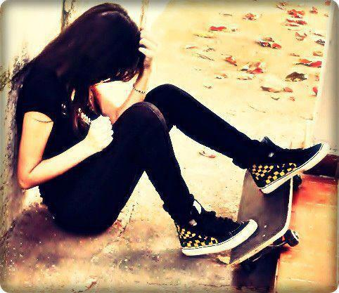 Sad Alone Girls DP For FB