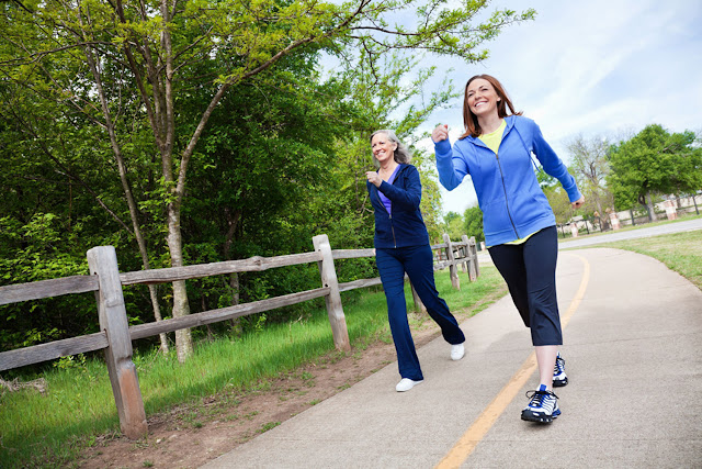 رياضة المشي و الإحساس بالرشاقة والحيوية