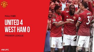 United vs West Ham 4-0