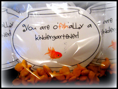 Fish Bowls In A Bag Of Goldfish Ers Congratulating My Cubs On O Ally Becoming Kindergarteners Click The Picture For Template