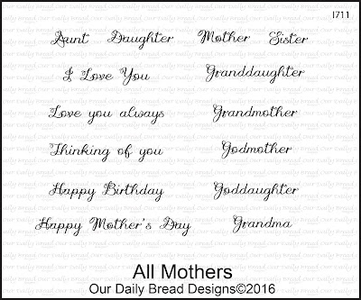 Our Daily Bread Designs Stamp Set: All Mothers