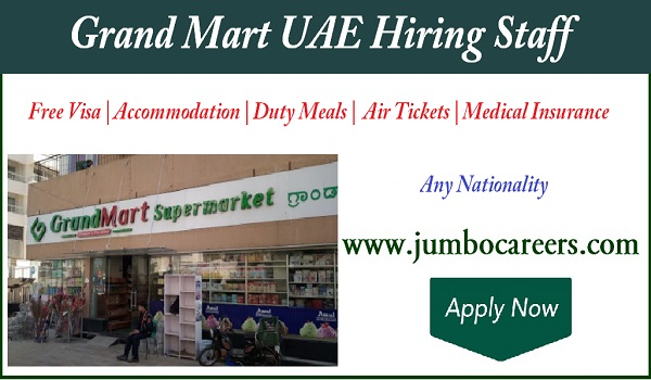 Latest Supermarket jobs in Dubai , UAE Supermarket jobs with salary,
