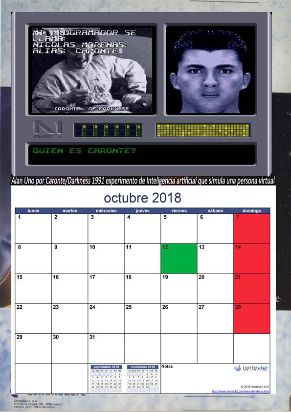 CUAZ: Calendario AMIGA 2018