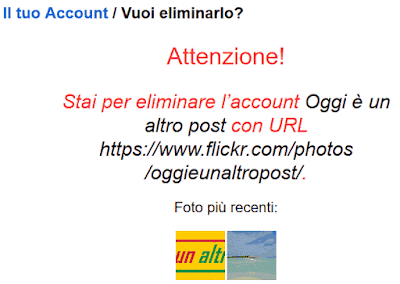 Come cancellarsi da Flickr