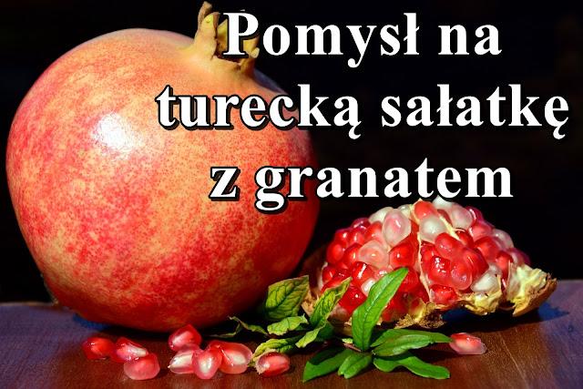 granat, sałatka, przepis, zdrowe odżywianie, owoce,