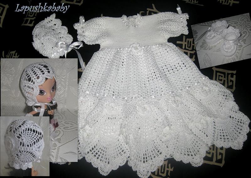 fa1b49f22ef08 beside crochet  من اجمل فساتين الكروشية للبنوتة الصغيرة