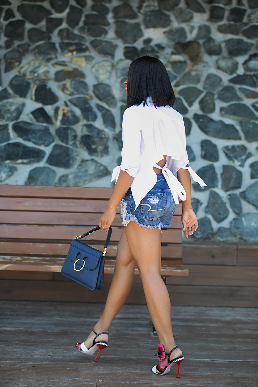 summer days, jeans shorts, www.jadore-fashion.com